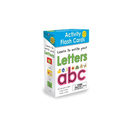 - Wipe-Clean: Activity Flash Cards Letters : 26 double-sided wipe-clean flash cards -- includes pen!