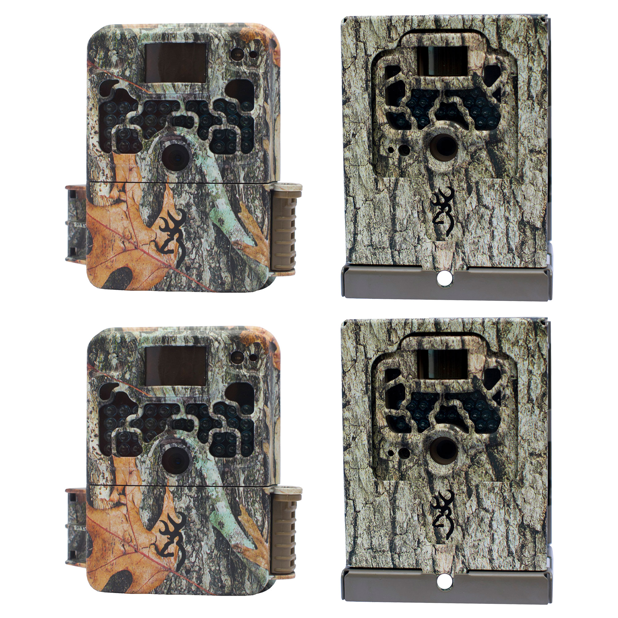Browning Trail Cameras Strike Force 850 Game Camera (2 Pack) with Security Boxes by Browning Trail Cameras