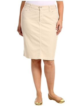 fca40507d78 Product Image Jack david Womens Plus Size Stretch 24   Length Casual Twill  Cotton Skirt A500