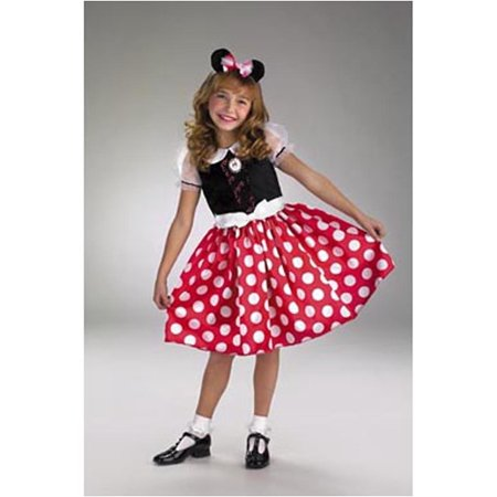 Toddler Girl Minnie Mouse Halloween Costume (Minnie Mouse Girls Child Halloween Costume, One Size,)