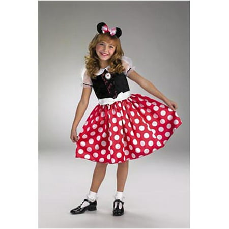 Minnie Mouse Girls Child Halloween Costume, One Size, 3T-4T - Minnie Mouse Costume Kids