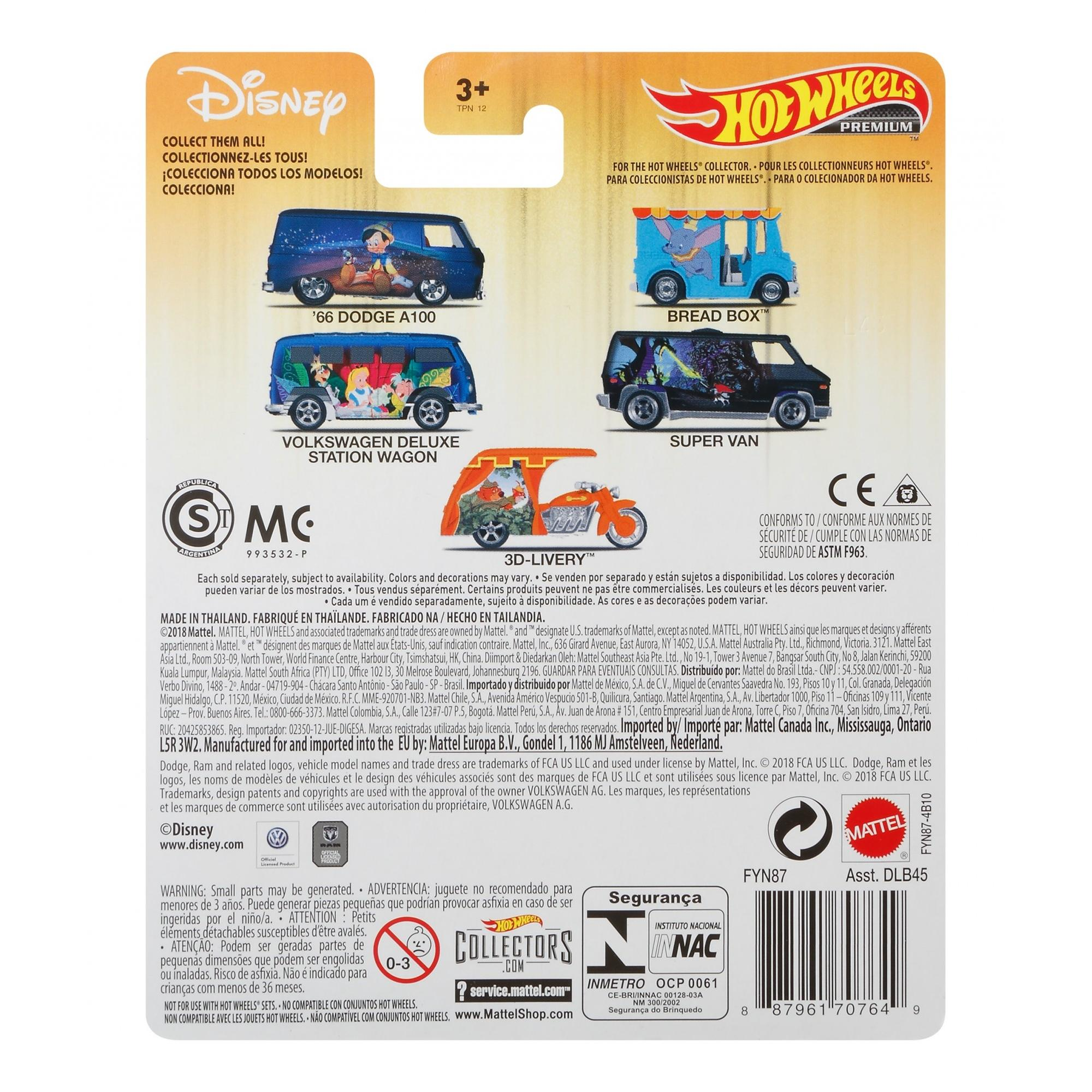 /'66 Dodge a100 Walt Disney Classic Pinocho 1:64 Hot Wheels fyn87 dlb45