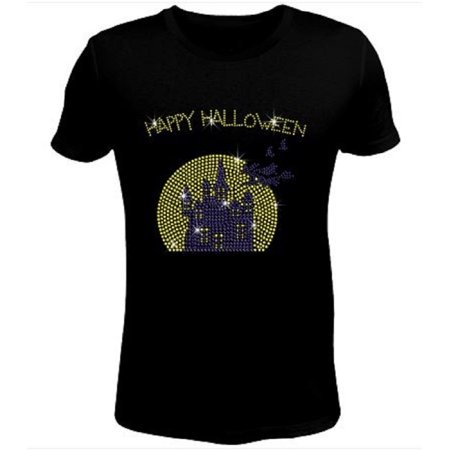 Halloween Witch Flying to Castle Women's t Shirt HAL-121-SC - XX-Large - Gh 12+1 Halloween