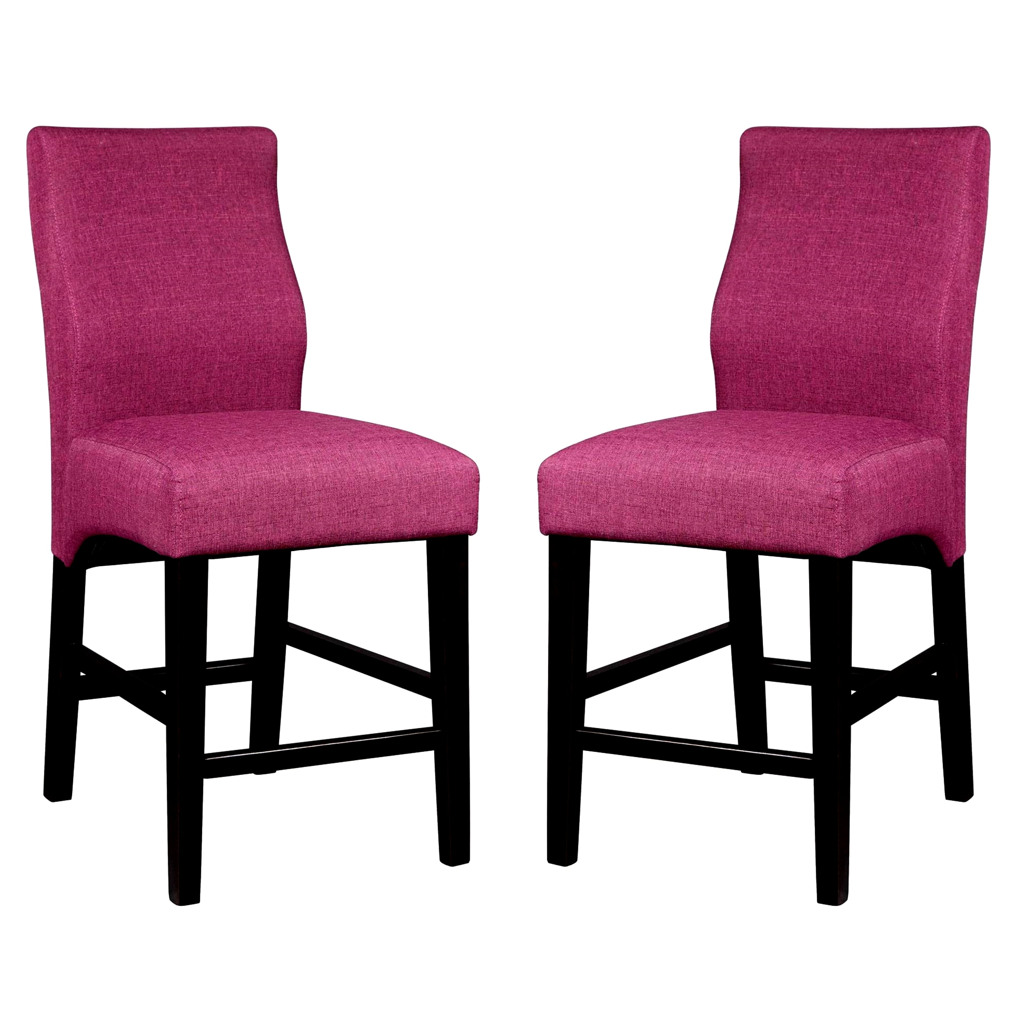 A Line Furniture Luxenberg Casual Purple Parson Counter Height Stools (Set of 2)