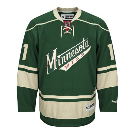 factory authentic 8a331 379c9 Zach Parise Minnesota Wild Reebok NHL Premier Green Jersey ...