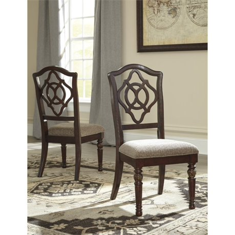 Ashley leahlyn upholstered dining chair in red brown for Meuble ashley circulaire