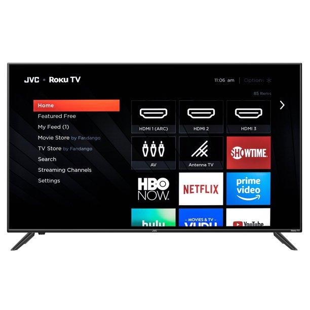 Jvc 50 Class 4k Uhd 2160p Hdr Roku Smart Led Tv Lt 50maw595 Walmart Com Walmart Com