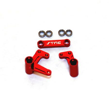 STRC Aluminum Steering Bellcrank System, Red: Rustler, Bandit, Slash, STRT3743XR