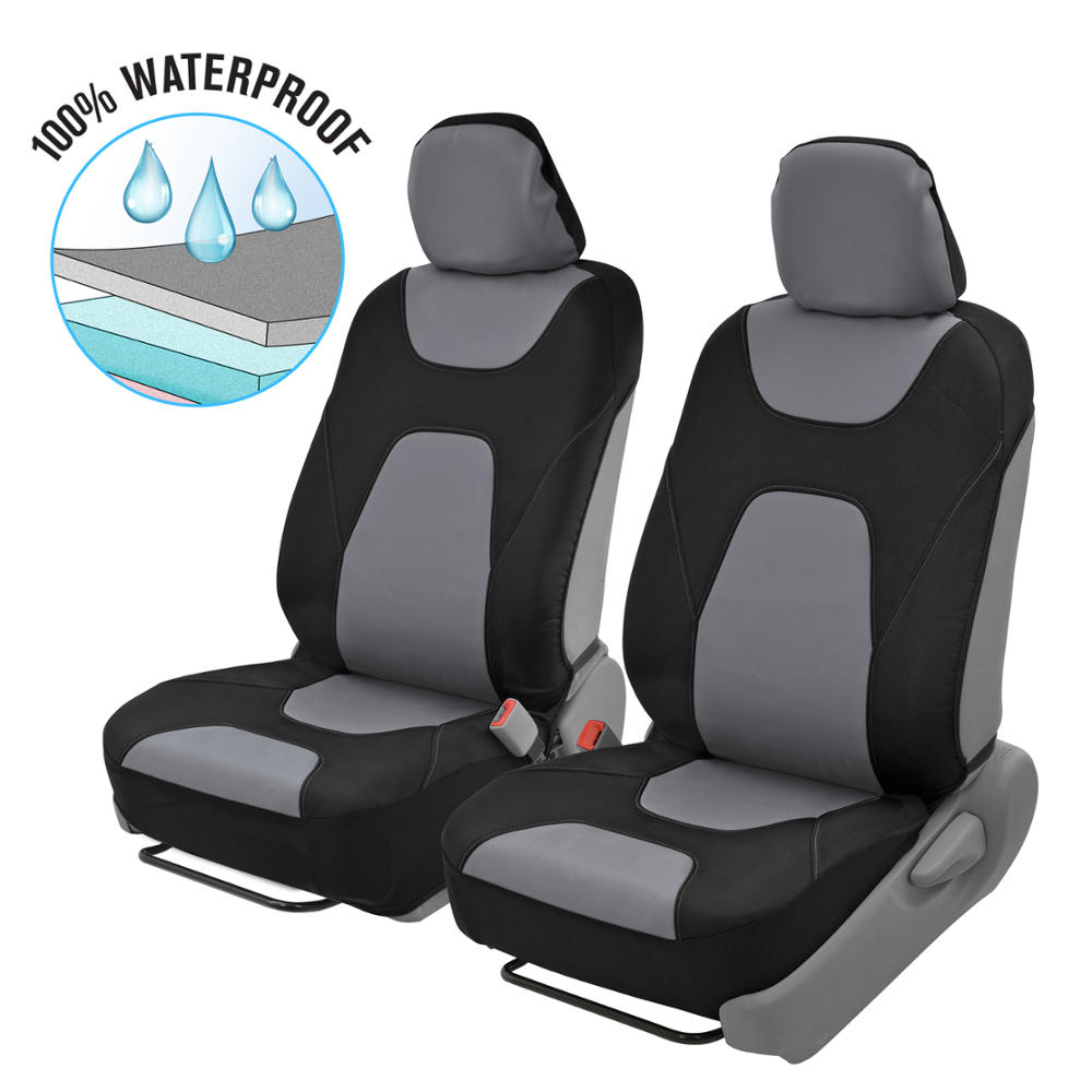 2 x Town /& Country Air Bag Compatible Protective Front Car Seat Covers Grey