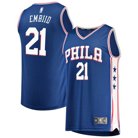 Joel Embiid Philadelphia 76ers Fanatics Branded Fast Break Replica Team Color Player Jersey Royal - Icon