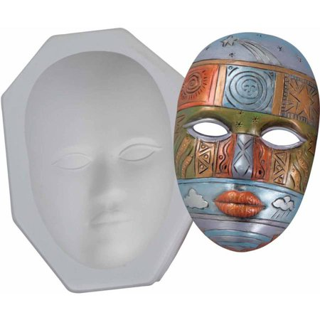 Mayco Plain Plaster Face Mask Mold, 9
