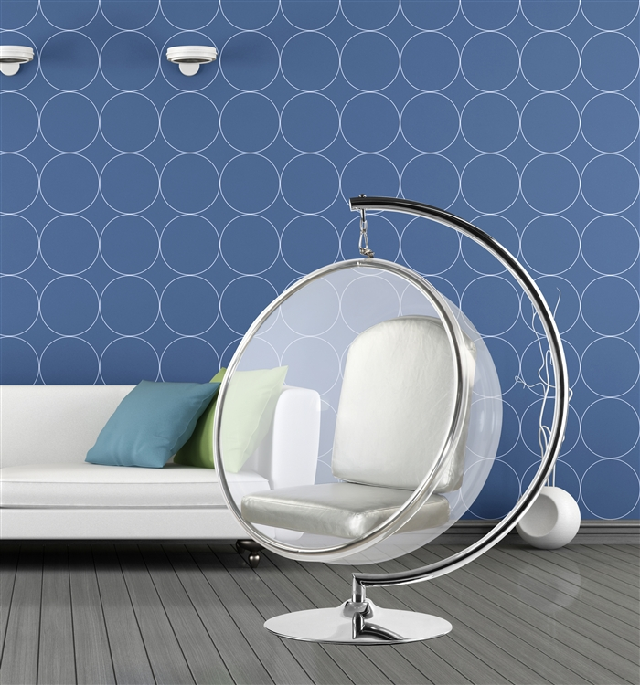 Fine Mod Imports Bubble Hanging Chair With Silver Cushion Stand Not Included Walmart Com Walmart Com