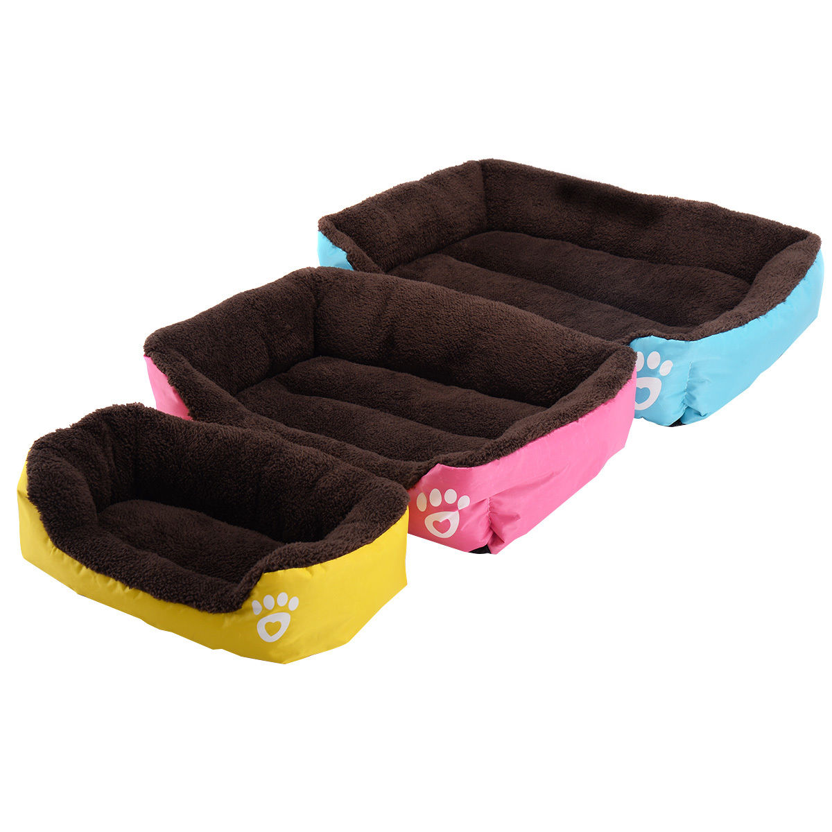 Goplus Pet Dog Cat Bed Puppy Cushion House Soft Warm Kennel Mat Blanket 3 SIZE