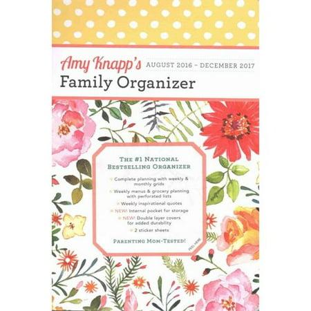 Amy Knapp Family Organizer 17-Month Calendar: August 2016-December 2017