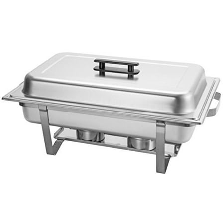 Chafing Dish 9-Liter 9.5 Quart Stainless Steel Chafer Buffet Catering Restaurant Water Pan & Fuel Holder Large Size - Catering Pans