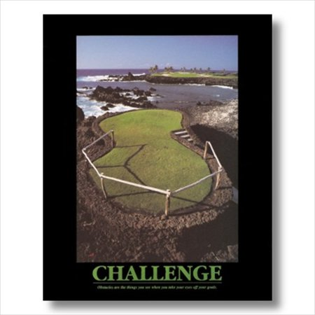 CHALLENGE Motivational Golf Wall Picture Art Print
