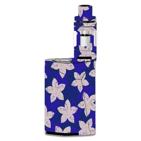 Skins Decals For Smok Gx350 Kit Vape Mod / Flowered Blue