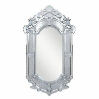 """Elegant Lighting MR-2003 Clear Mirror 28"""" Wide Mirror From The Venetian Collection"""