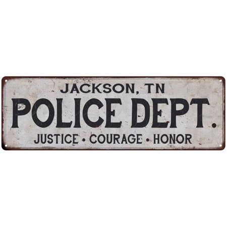 JACKSON, TN POLICE DEPT. Home Decor Metal Sign Gift 6x18 106180012523](Halloween Express Jackson Tn)