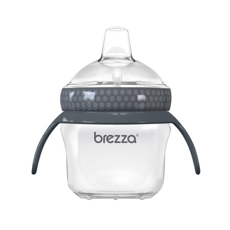 Baby Brezza Transitional Sippy Cup - Leak & Spill Proof - 5oz, Grey