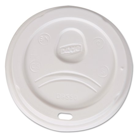 Dixie Drink Thru Lid (Dixie Sip-Through Dome Hot Drink Lids, Fits 20, 24 oz Cups, White, 1000/Carton -DXED9550CT )