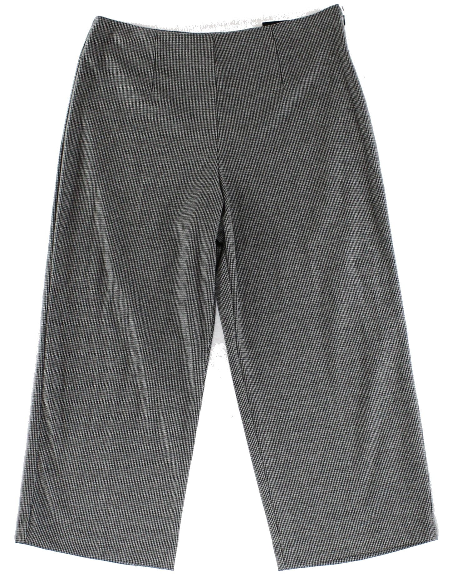 Alfani NEW Gray Black Womens Size 4 Flat-Front Houndstooth Dress Pants