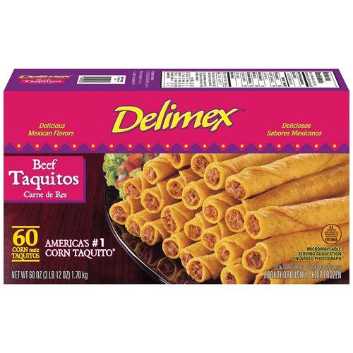 DeliMex Beef 60 Ct Taquitos, 60 Oz