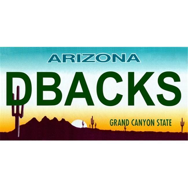 LP-2100 Arizona State Background License Plates- Dbacks