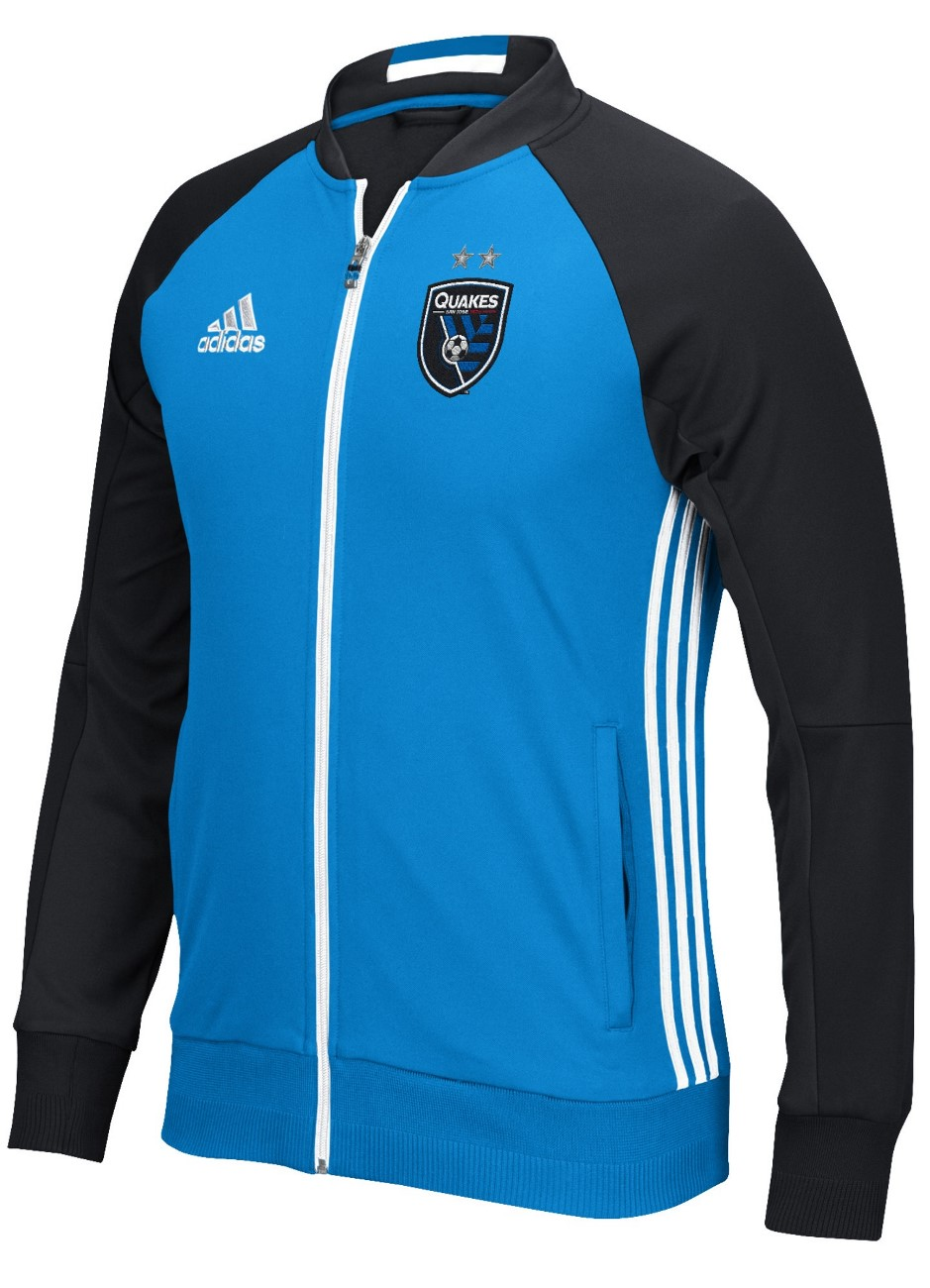 "San Jose Earthquakes Adidas MLS ""Anthem"" Men's Sideline Full Zip Jacket by Adidas"
