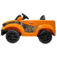 Best Ride On Cars Realtree Kids Electric Battery Ride On Toy Car Truck, Orange