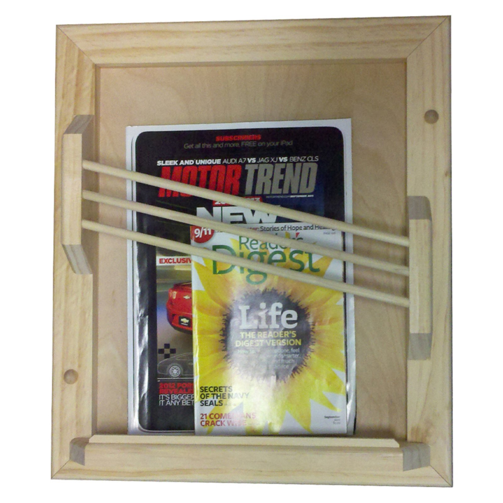 WG Wood Recessed Contemporary Magazine Rack by WG Wood Products LLC
