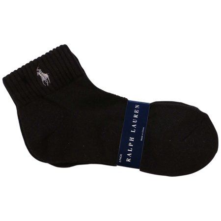 Polo Ralph Lauren - Polo Ralph Lauren Women s Athletic Pony Quarter Socks- Black - Walmart.com c305f7592