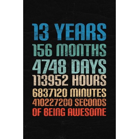 Being A Girl For Halloween (13 Years Of Being Awesome : Happy 13th Birthday 13 Years Old Gift for Boys &)