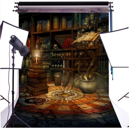 ABPHOTO Polyester 5x7ft Halloween Witch Den Backdrop Photography Background Photo Studio - Putnam Den Halloween