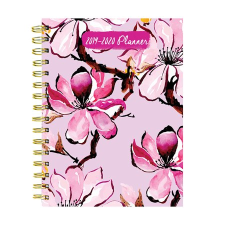 July 2019 - June 2020 Pink Petals Medium Daily Weekly Monthly Planner ()