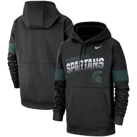 Michigan State Spartans Nike 2019 Sideline Therma-FIT Perfromance Hoodie - Black