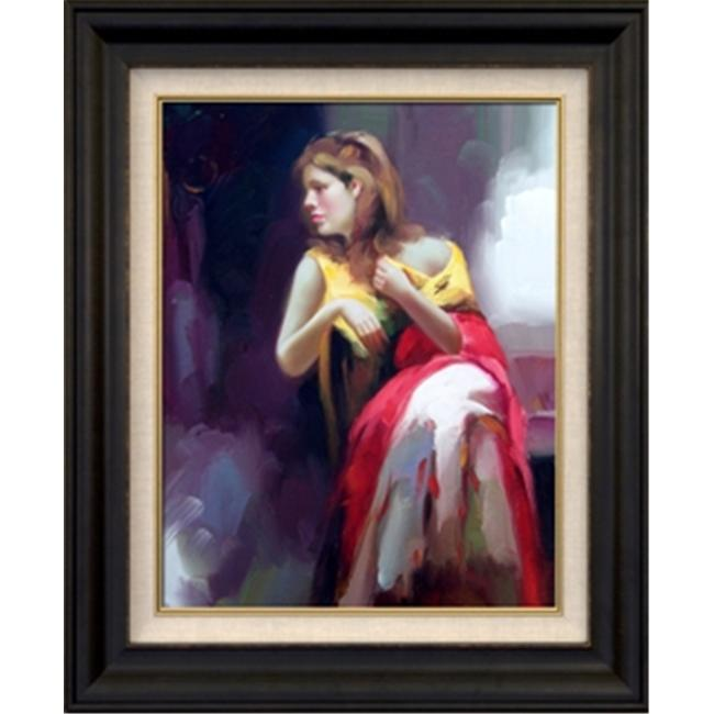 Artmasters Collection KM89623-8607NL Day Dreaming III Framed Oil Painting