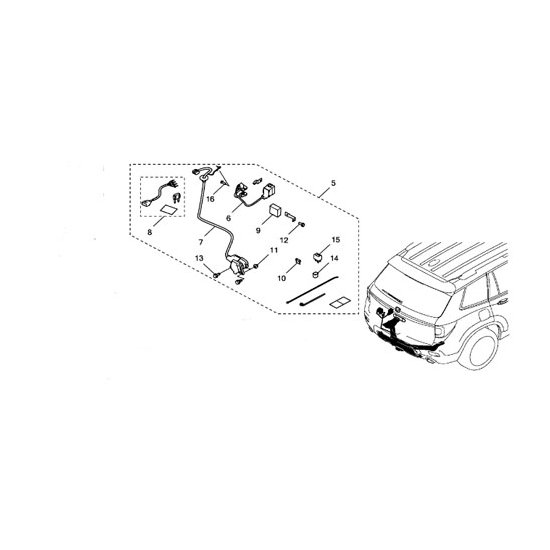 Honda 08L91-TGS-100 Trailer Hitch Harness Honda Passport