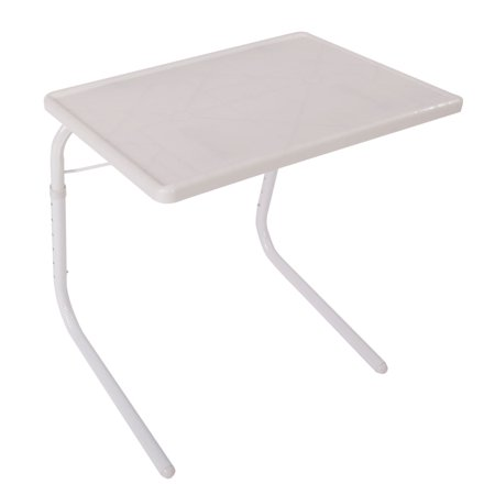 Folding Table for Home, Practical Portable Home Use Bed Table Tray, White Desks Foldable Table Assembled Bed Table ()
