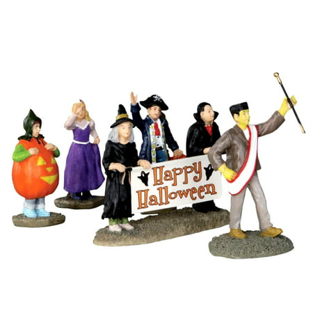 Lemax 32115 HALLOWEEN PARADE BANNER Spooky Town Figurine Set of 5 Decor Figure](Halloween Figurines)