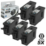 Compatible Replacement for Kodak 30XL / 30 Set of 5 High Yie Cartridges Includes: 5 1550532 Black for use in ESP C110, C310, C315, Office 2150, Office 2170, 3.2, and Hero 3.1, 4.2, & 5.1