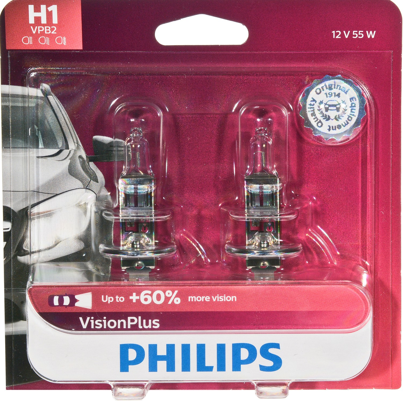 Philips VisionPlus Headlight H1, Pack of 2