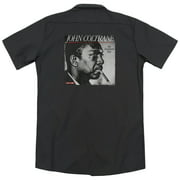 John Coltrane Smoke Breaks (Back Print) Mens Work Shirt