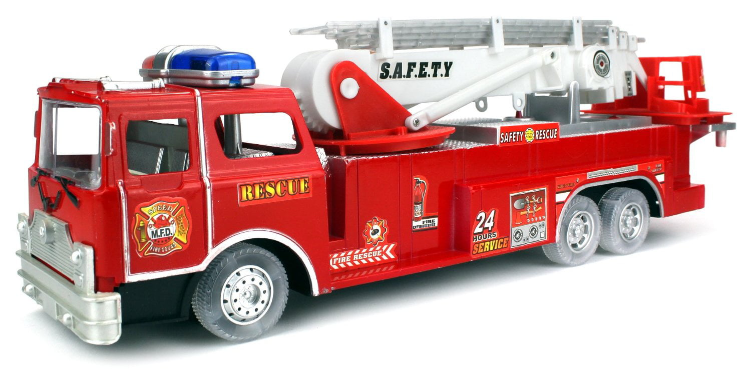 Safety Rescue Fire Truck Battery Operated Bump and Go Children's Kid's Toy Fire Truck w ... by Velocity Toys