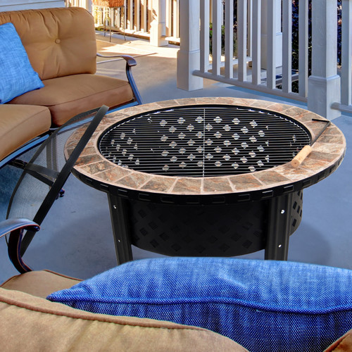 "Astella 30"" Firepit With Tile by Astella"