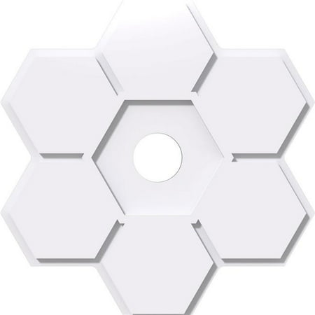 Ekena Millwork CMP40DY-06000 40 in. OD x 6 in. ID Square Daisy Architectural Grade PVC Contemporary Ceiling Medallion - image 1 of 1