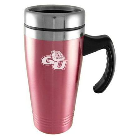 gonzaga bulldogs engraved 16oz stainless steel travel mug pink