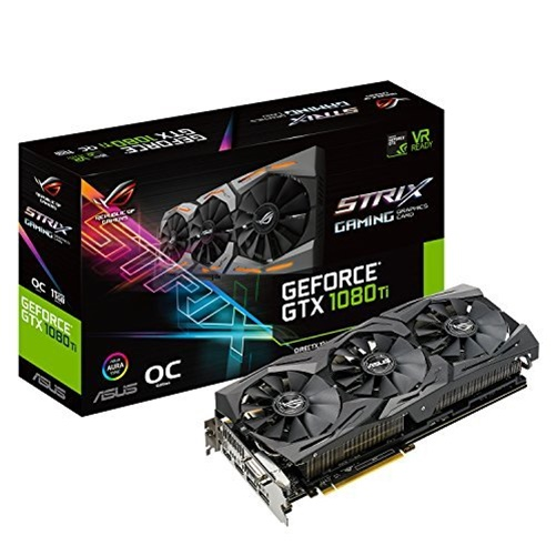 Asus ROG STRIX GeForce GTX 1080 Ti OC 11GB GDDR5X Graphic...