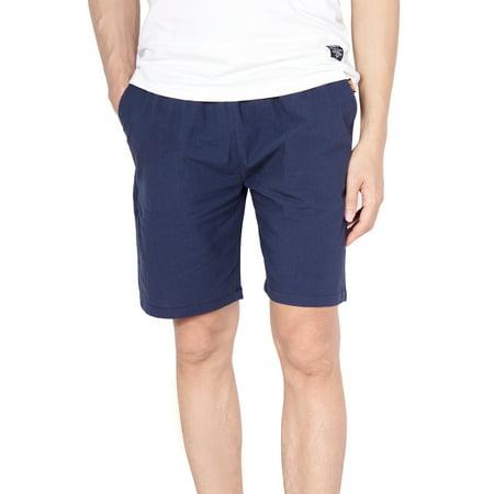 LELINTA Mens Causal Beach Shorts with Elastic Waist Drawstring Lightweight Slim Fit Summer Short Pants with Pockets Drawstring Two Pocket Shorts