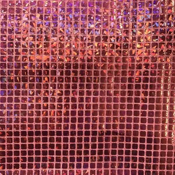 """Hologram Square Sequins Fabric 8mm for Decoration and Crafts 44/45"""" Wide By The Yard (Silver)"""